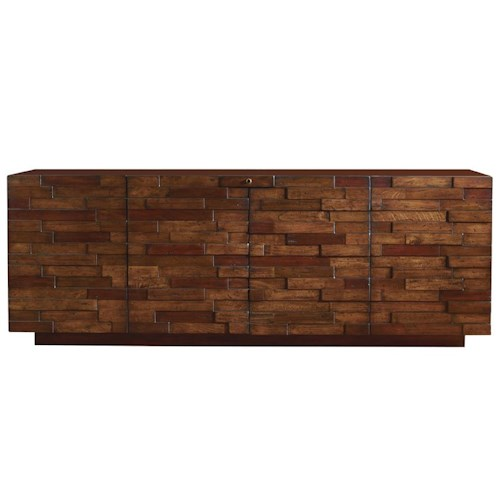 Sligh Studio Design Criss Cross TV Console Media Unit with 5 Wood Species