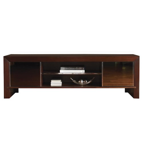 Sligh Studio Design Meridian TV Console Media Unit with Smoked Mirror Doors