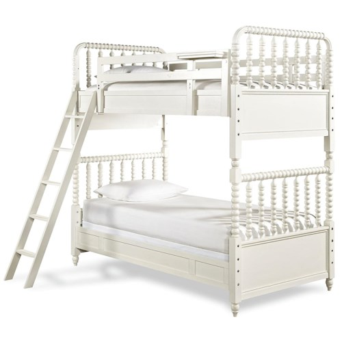 Morris Home Furnishings Bellamy Vintage Bunk Bed with 2 Twin Beds