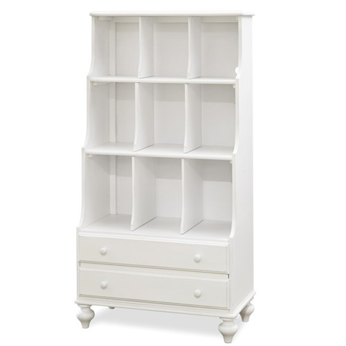 Morris Home Furnishings Anaheim Bookcase with 2 Shelves with 9 Open Compartments and 2 Drawers
