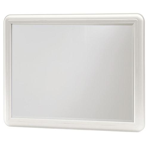 Smartstuff Black and White Landscape Mirror with Rectangular Wooden Frame