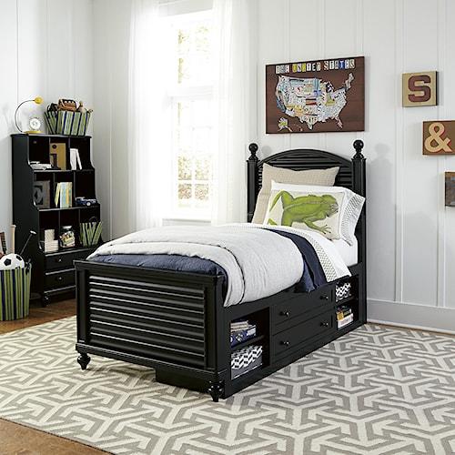 Smartstuff Black and White Full Bedroom Group