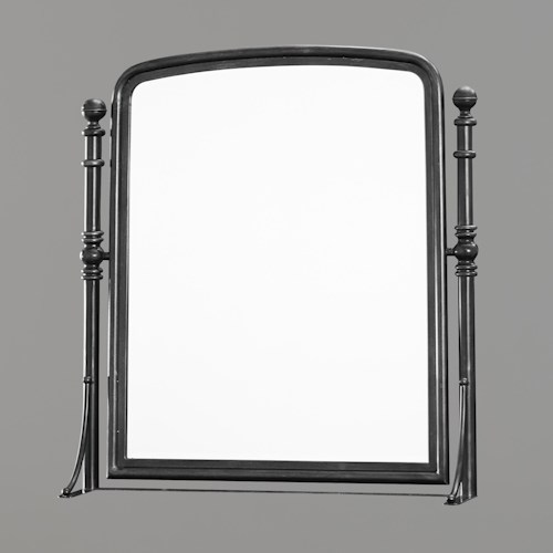 Smartstuff Black and White Rectangular Tilt Mirror with Posts