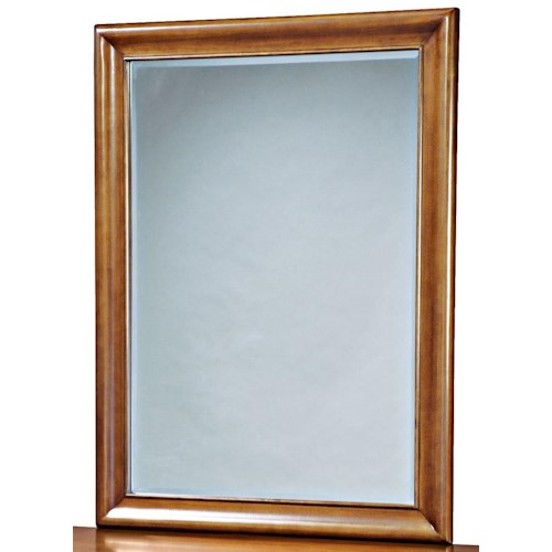 Universal Kids Smartstuff Classics 4.0 Vertical Beveled Edge Mirror with Wood Frame