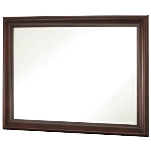 Morris Home Furnishings Classics 4.0 Vertical Beveled Edge Mirror with Wood Frame