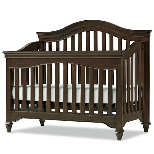 Morris Home Furnishings Classics 4.0 Convertible Crib with Arched Back