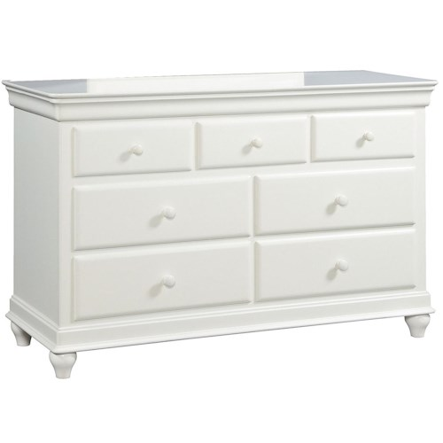 Smartstuff Classics 4.0 7-Drawer Dresser With Hidden Storage & Media Drawer