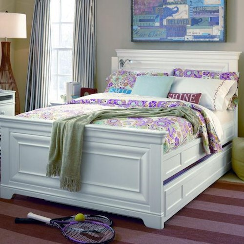 Smartstuff Classics 4.0 Full Panel Bed with Trundle Unit for Mattress or Storage