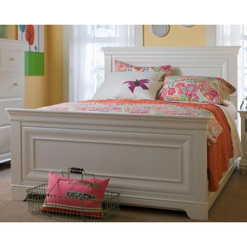 Smartstuff Classics 4.0 Full Panel Bed with Crown Moulding & Hidden Snake LED Light