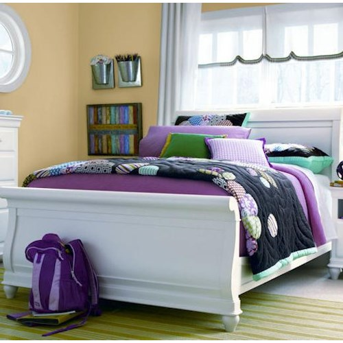 Universal Kids Smartstuff Classics 4.0 Full Sleigh Bed with Simple Moulding Detail