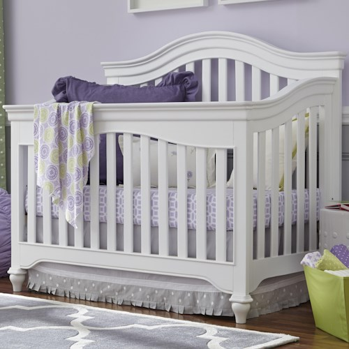 Universal Kids Smartstuff Classics 4.0 Convertible Crib with Arched Back