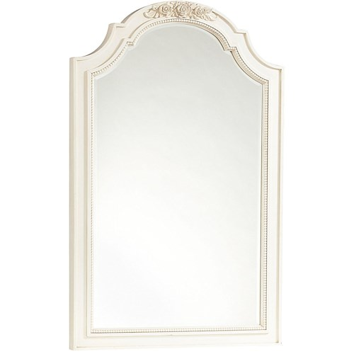 Smartstuff Gabriella Vertical Beveled Glass Mirror with Decorative Molding & Shaping Details