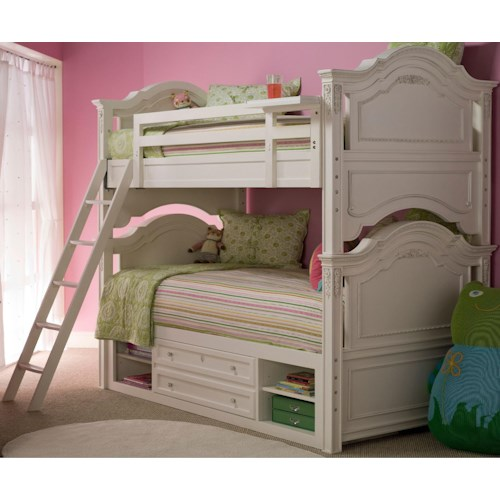 Morris Home Furnishings Greenville Twin-Over-Twin Bunk Bed with Underbed Storage Unit