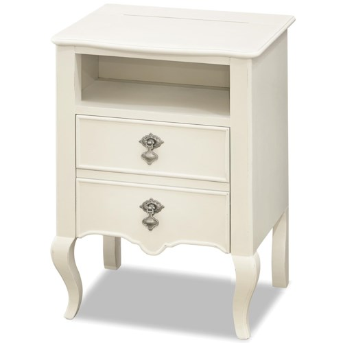 Smartstuff Genevieve Nightstand with Power Outlet