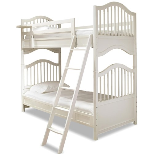 Smartstuff Genevieve Twin Bunk Bed with Removable Top Bunk Shelf