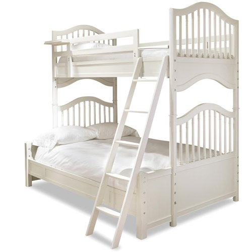 Universal Kids Smartstuff Genevieve Twin Over Full Bunk with Removable Shelf