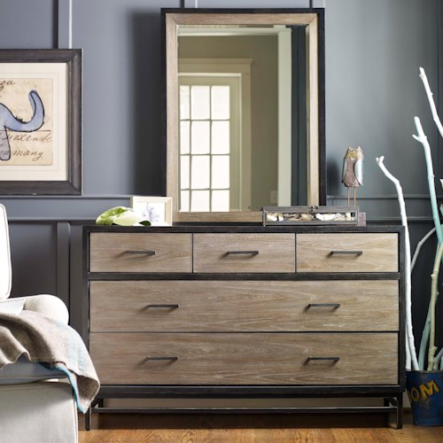 Smartstuff #myRoom 5-Drawer Dresser and Mirror Set