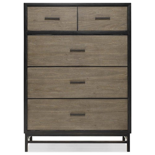 Morris Home Furnishings Torrance 5-Drawer Chest with Hidden Jewelry Panel