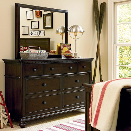 Smartstuff Paula Deen - Guys 7 Drawer Dresser & Vertical Mirror