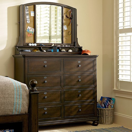 Morris Home Furnishings Pine Valley Jack's Chest & Treasures Mirror