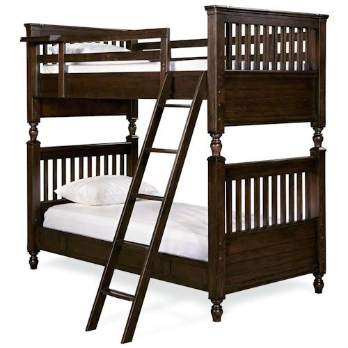Smartstuff Paula Deen - Guys Twin Bunk Bed with Rail Post Design