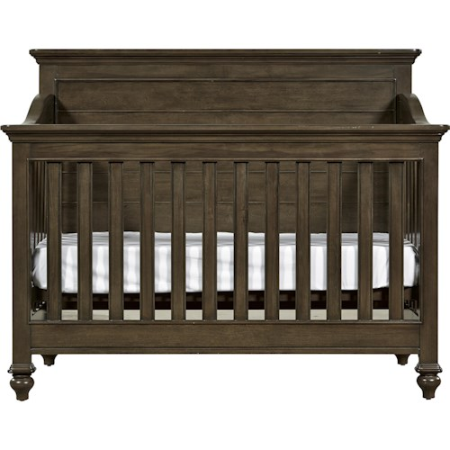 Morris Home Furnishings Varsity Convertible Crib with Toddler Rail
