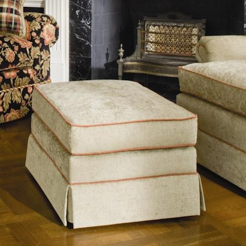 Smith Brothers 971 Ottoman with Tailored Skirt