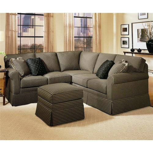 Smith Brothers 165 Sectional with Skirted Base