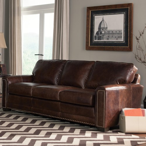 Smith Brothers 229 Contemporary Sofa with Block Feet and Narrow But Comfortable Arms