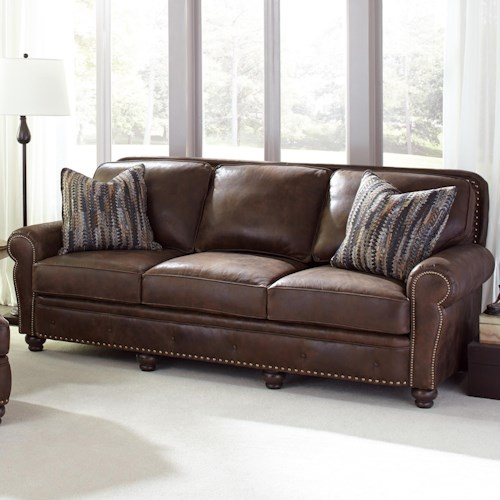 Peter Lorentz 237 Traditional Large Sofa with Nailhead Trim
