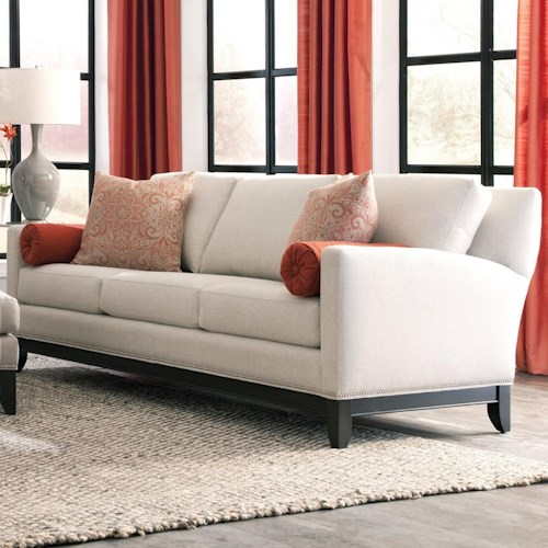 Peter Lorentz 238 Transitional Sofa with Nailhead Trimmed Base Rail