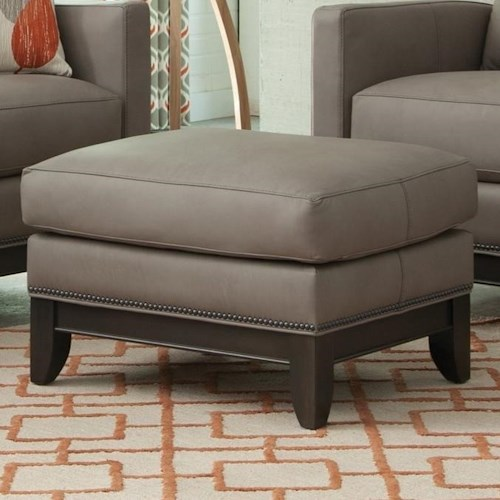 Peter Lorentz 238 Transitional Ottoman with Tapered Legs