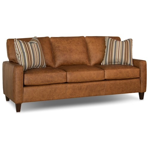 Smith Brothers 242 Contemporary Sofa with Track Arms