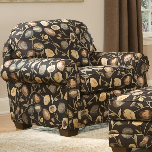 Smith Brothers 310 Upholstered Chair with Wood Legs