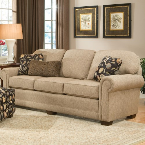 Smith Brothers 310 Traditional Stationary Sofa with Wood Legs