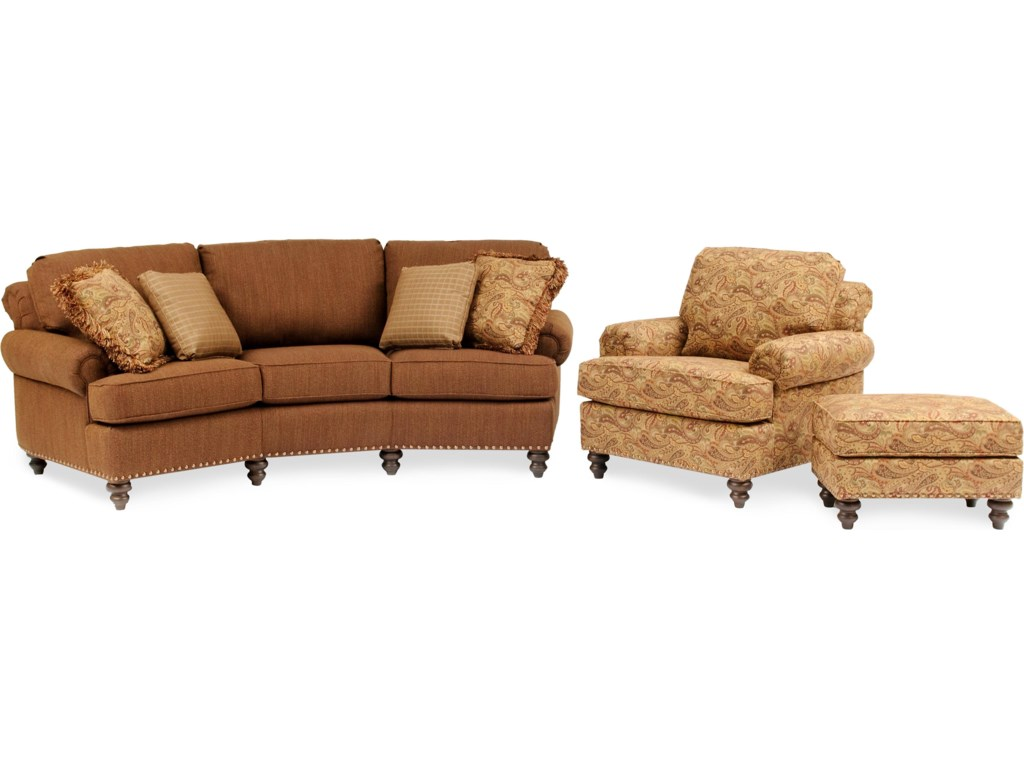 Shown with Upholstered Arm Chair & Ottoman