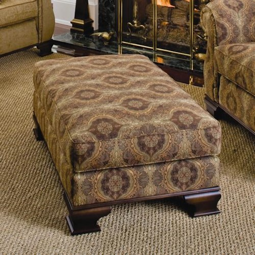 Smith Brothers 336 Upholstered Ottoman