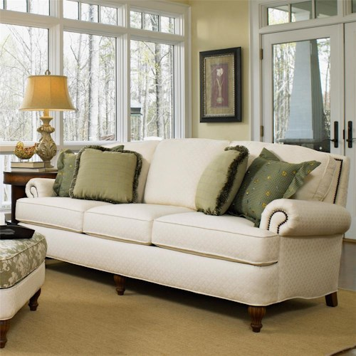 Peter Lorentz 358 Traditional Upholstered Sofa ft. Nail Head Trim