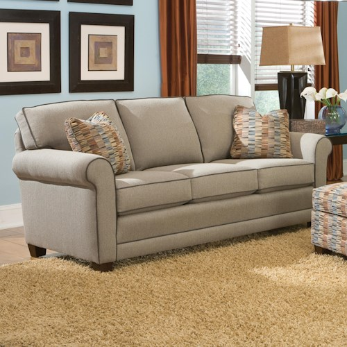 Peter Lorentz 366 Casual Stationary Sofa with Rolled Arms