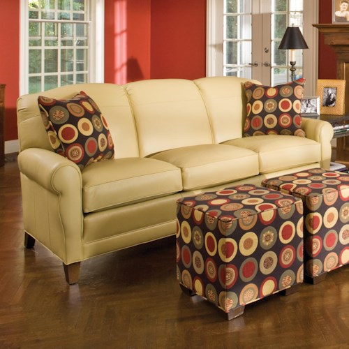 Peter Lorentz 374 Stationary Sofa with Rolled Arms