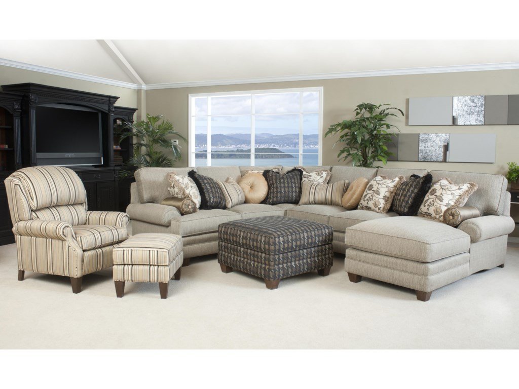 Shown with Coordinating Ottoman and Accent Chair and Ottoman Set