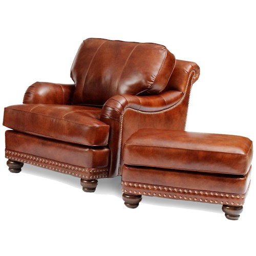 Smith Brothers 386 Traditional Chair and Ottoman