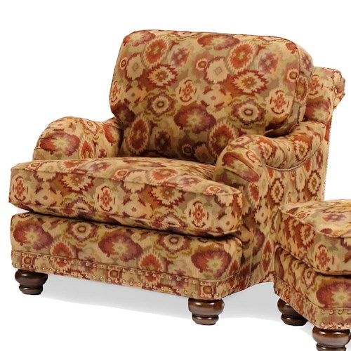 Smith Brothers 386 Traditional Chair with Bun Feet