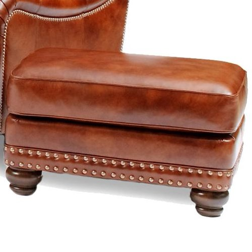 Smith Brothers 386 Traditional Ottoman with Nailhead Trim