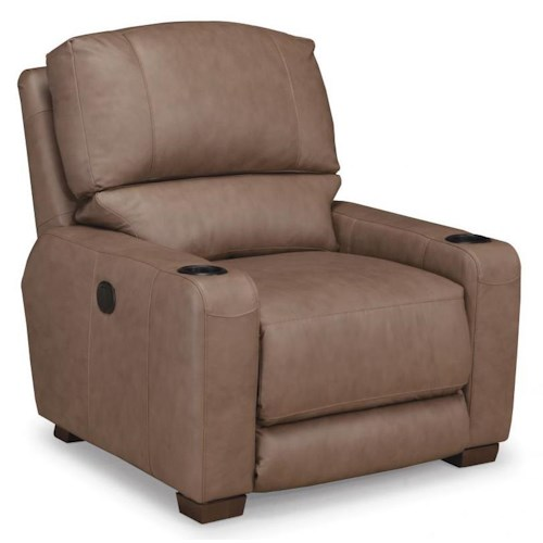 Smith Brothers 415 Casual Motorized Reclining Chair with Split Back