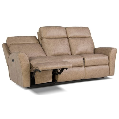 Smith Brothers 418 Motorized Reclining Sofa With Flared