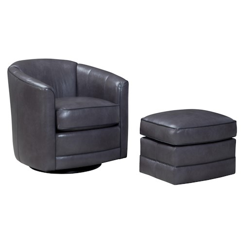 Peter Lorentz 506 Swivel Chair and Ottoman Set