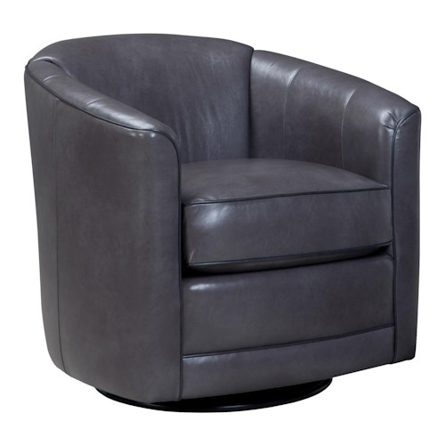 Smith Brothers 506 Swivel Glider Chair with Barrel Back
