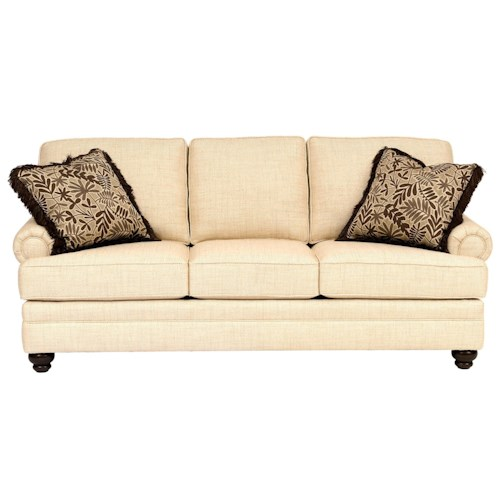 Peter Lorentz 5221 Traditional Sofa with Rolled Panel Arms