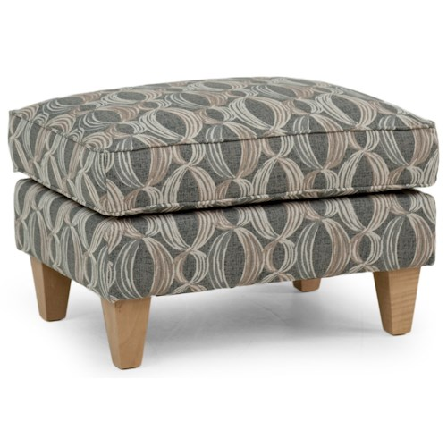 Smith Brothers 524 Casual Ottoman with Tapered Legs